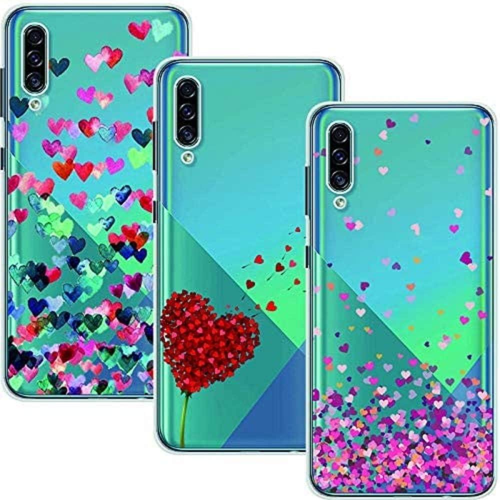 Young Ming Funda Para Samsung Galaxy A50/A50s/A30s, (3 Pack) Transparente Ultrafina Carcasa Delgado antigolpes Resistente, Amor