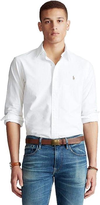 Ralph Lauren Camisa Manga Larga Blanca para Hombre: Amazon.es: Ropa y accesorios