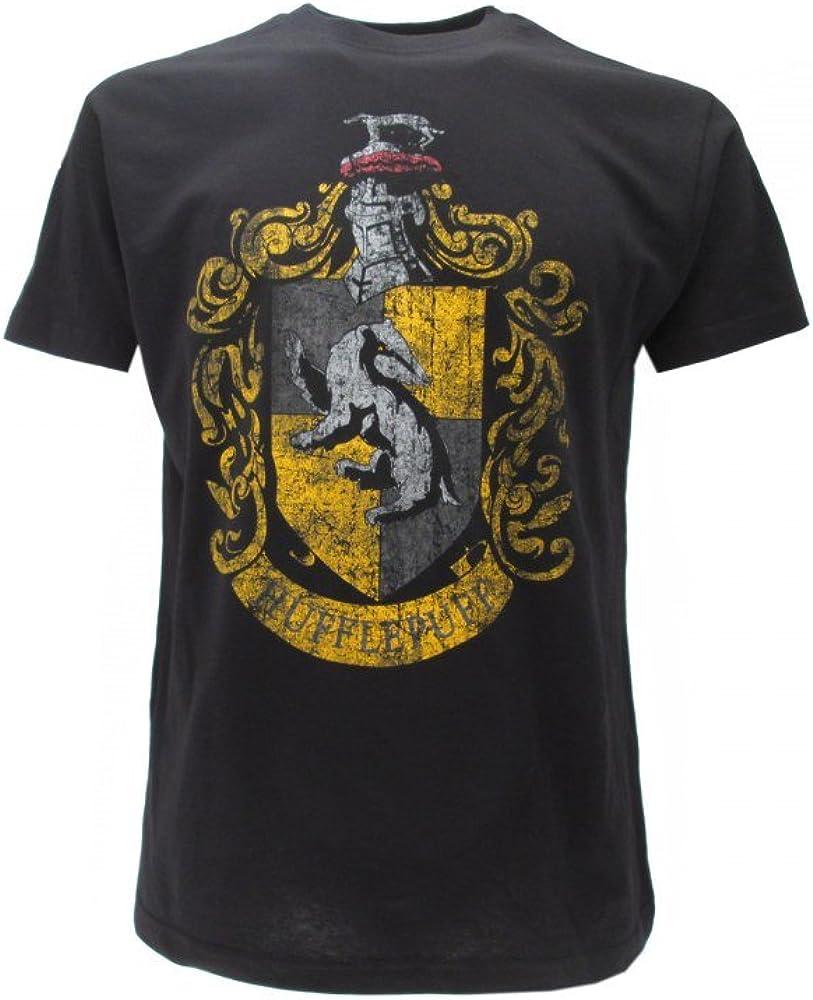 T-Shirt Originale Harry Potter casa Tassorosso Tasso Rosso Hufflepuff Ufficiale Warner Bros