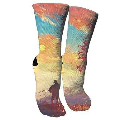 Amazon.com: Autumn Sunrise Crazy - Calcetines para ...