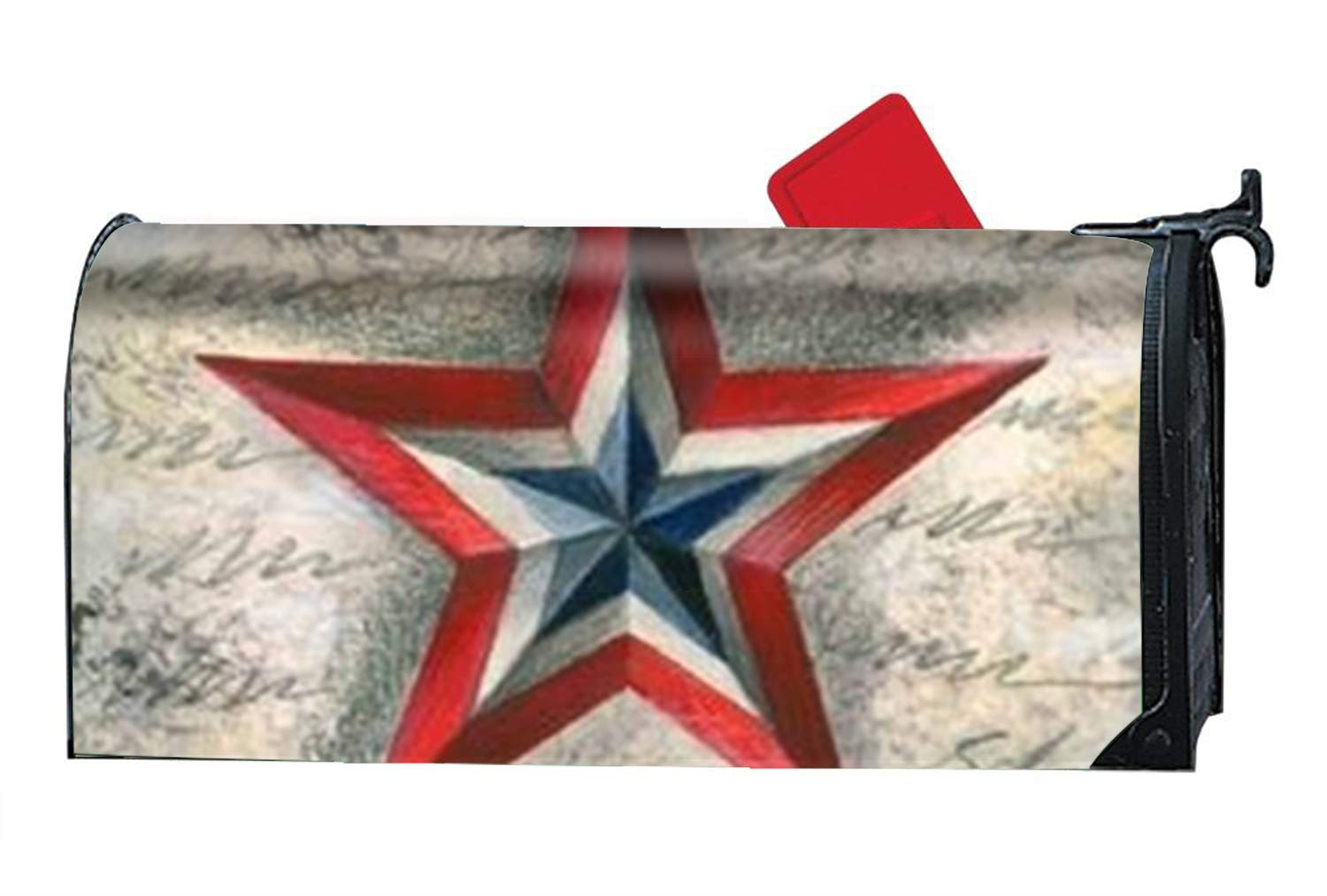 FANMIL American Star Magnetic Mailbox Cover Yard Decor Standard