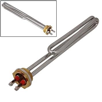 TOOGOO Chaud Booster en acier inoxydable resistance electrique pour DN25 chauffe-eau 2000W R Booster de chauffage de l/¡/¯eau