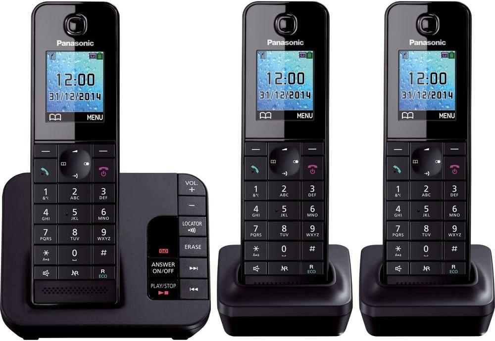 Panasonic KX-TG8183EB teléfono inalámbrico con contestador automático (DECT, funcionalidad Manos Libres, Baja radiación): Amazon.es: Electrónica