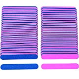 200 Pack Disposable Nail Files Double Sided Emery Boards Manicure Nail Art Tools Artificial Sandpaper (200 pcs)