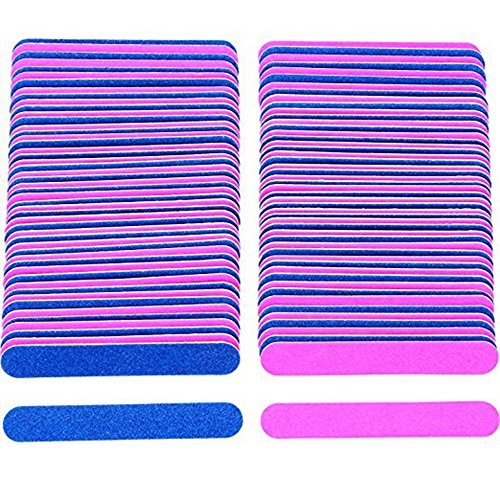 200 Pack Disposable Nail Files Double Sided Emery Boards Man