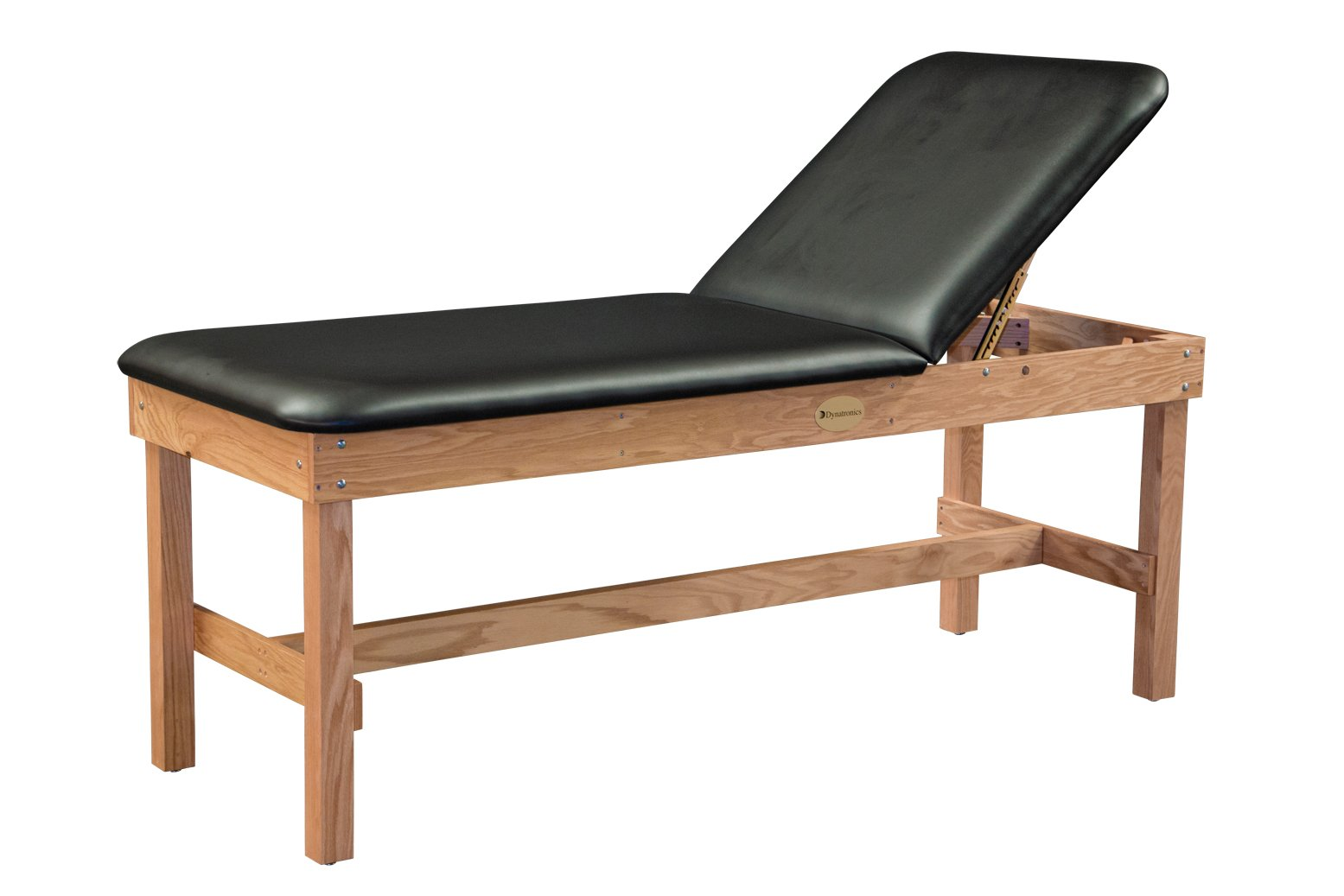 Dynatronics Solid Premium Oak H-Brace Treatment Table w/Liftback - 30'' x 78'' Black