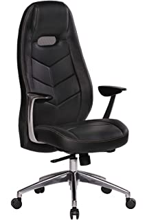 president office chair black. Leather Executive Office Chair Black Computer Work Desk High Back Furniture New President