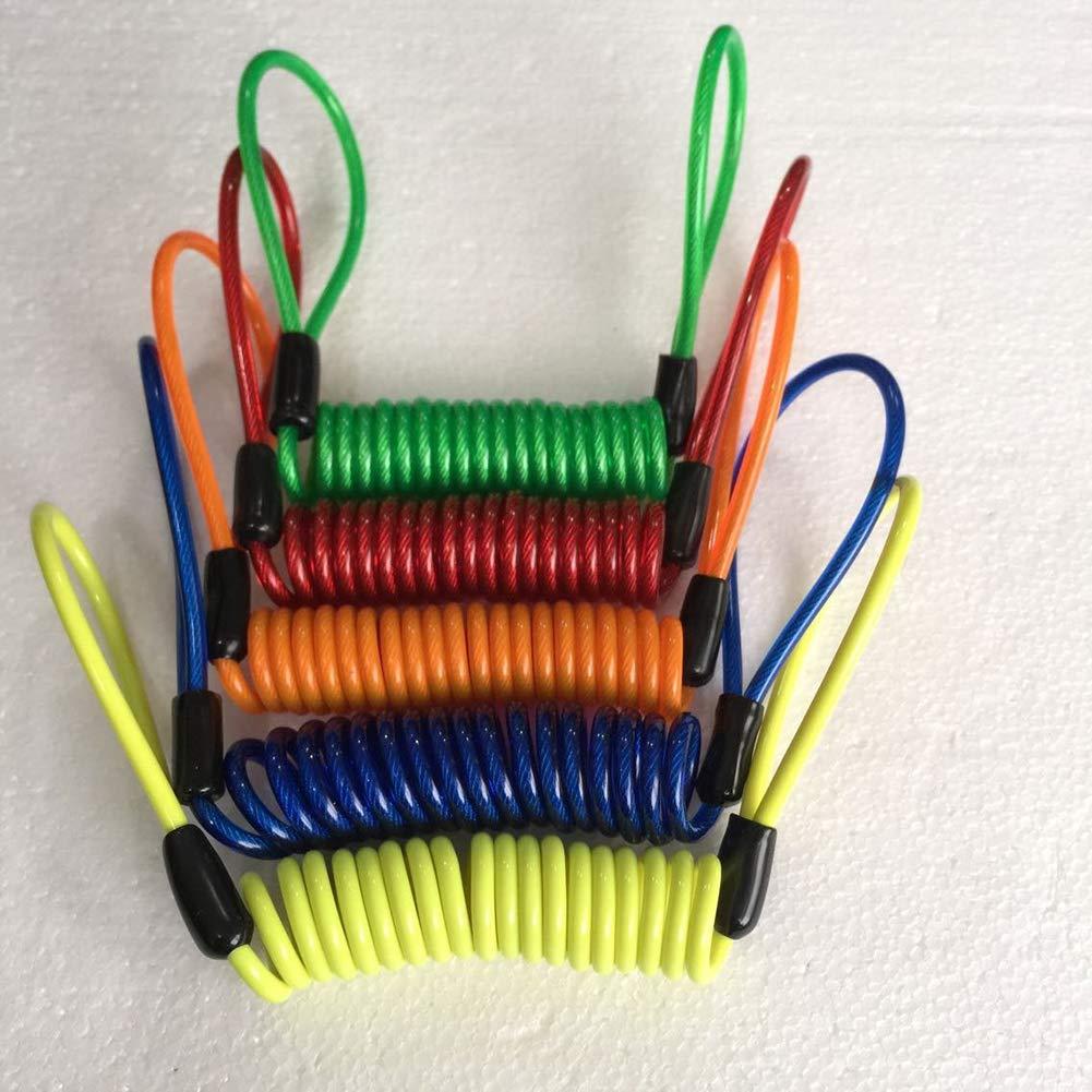 Einheitsgr/ö/ße JoyFan Motorrad Reminder Kabel Disc Lock Kabel 1,2 m Alarm Lock Security Feder Reminder Kabel Diebstahlschutz am Lenker Orange Legierung