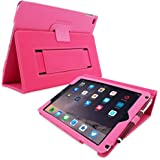 iPad 4 and 3 Case, Snugg - Hot Pink Leather Smart Case Cover [Lifetime Guarantee] Apple iPad 4 and 3 Protective Flip Stand Cover with Auto Wake / Sleep