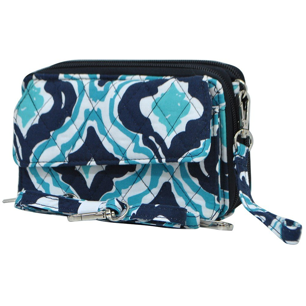 Quatrefoil Ikat Print NGIL Quilted All in One Wallet