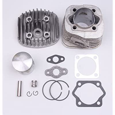 47MM Cylinder Piston Gasket Pin Ring Kit for 2 stroke 80cc Motorized Bicycle Bike Engine Motor: Automotive