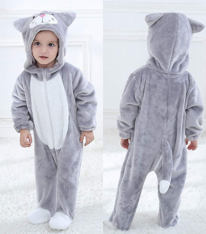 Doladola Baby Onesies Animal Cartoon Cat Jumpsuits
