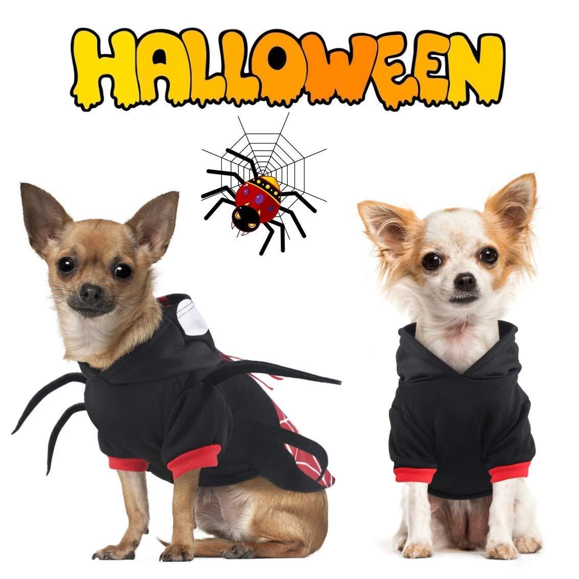 Amazon.com : LDEDL Halloween Pet Costume, Creative Spider ...