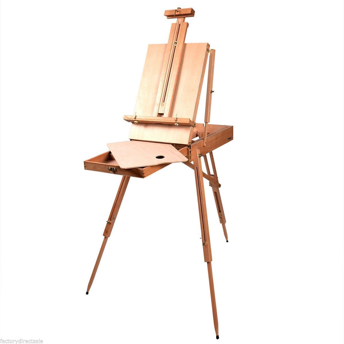 Shop4Omni French Style Portable Tripod/Desktop Wooden Artist Easel w Carry Strap