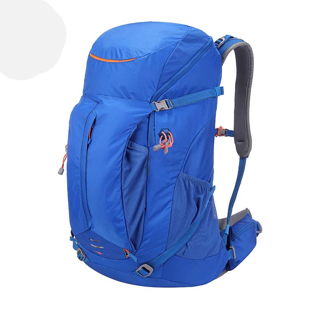 ハイキングバックパック40L防水トラベルデイパック軽量通気性バックパック付きレインカバートレッキングピクニックキャンプバックパッキングアウトドアスポーツ  Blue B07RKZN4K2