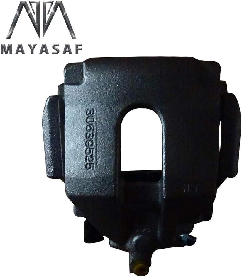 MAYASAF 19B2956 19B2957 Rear Brake Caliper Driver /& Passenger Side Caliper Assembly Fit 2003-2014 Volvo XC90 Supplied with Mounting Bracket /& Metal Piston