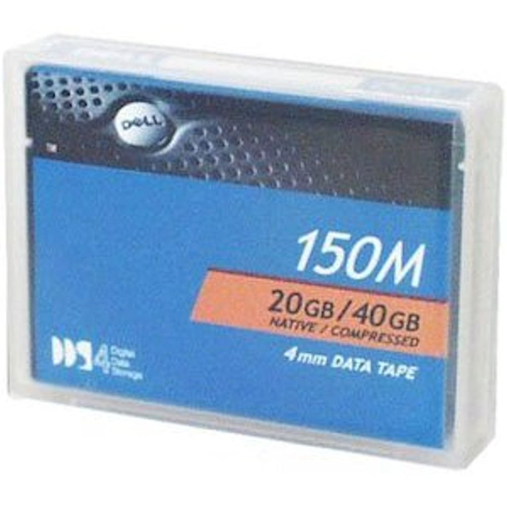 Dell DAT 4mm 20 GB Native / 40 GB Compressed 150m DDS4 Backup Tape Media Dell Computers 09W083