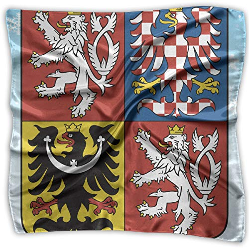 - Czech Republic Coat Of Arms Women's Square Scarf Headdress Multi-Purpose Fashion Scarves