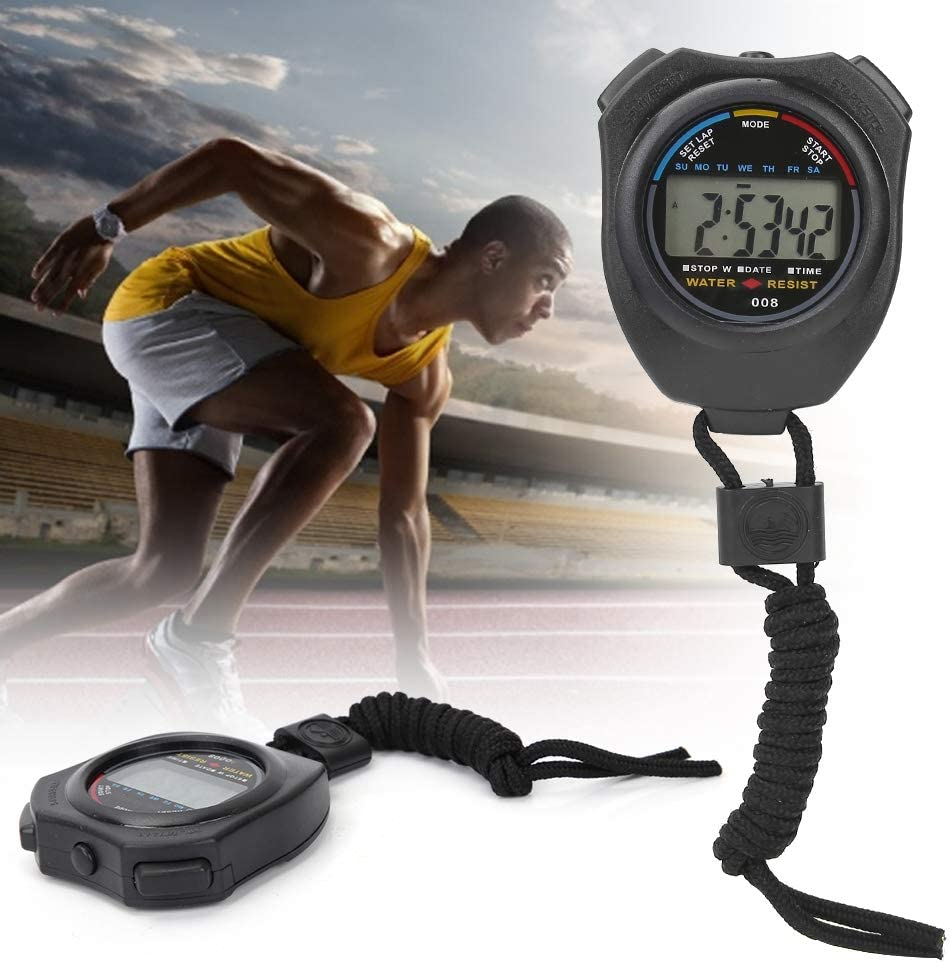 VGEBY Sports Stopwatch Timer Multifuncional Digital Handheld Stopwatch 2 Piezas
