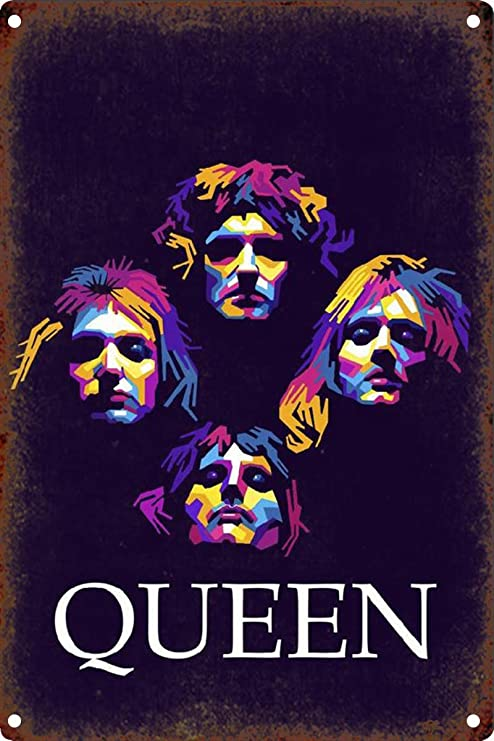 LORENZO Queen Rock Vintage Metal Cartel de Chapa Pared ...
