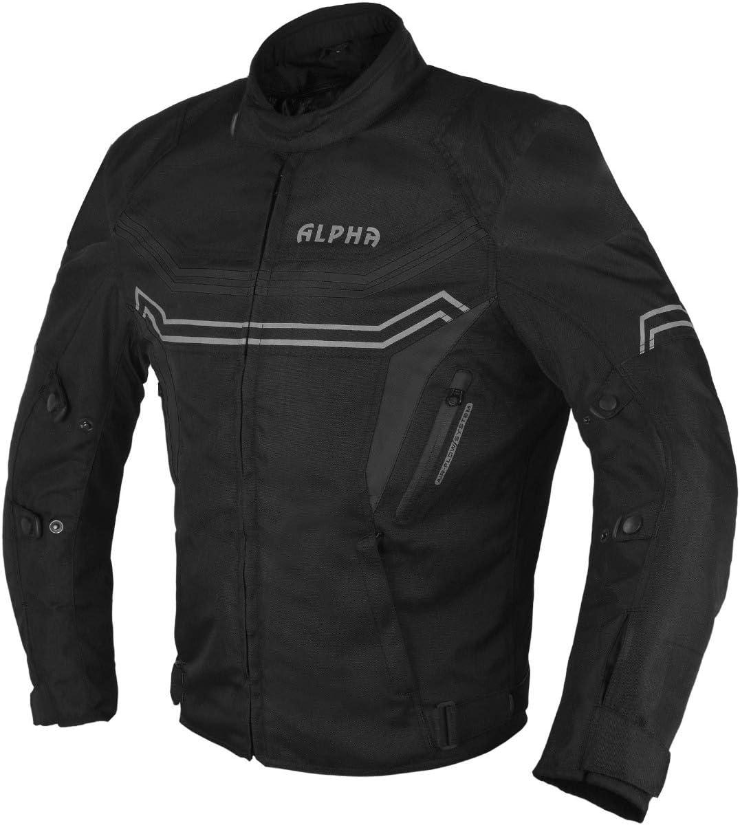 ORANGE, XX-LARGE JAYEFO-ALPHA CYCLE GEAR MOTORCYCLE ALL SEASON JACKET