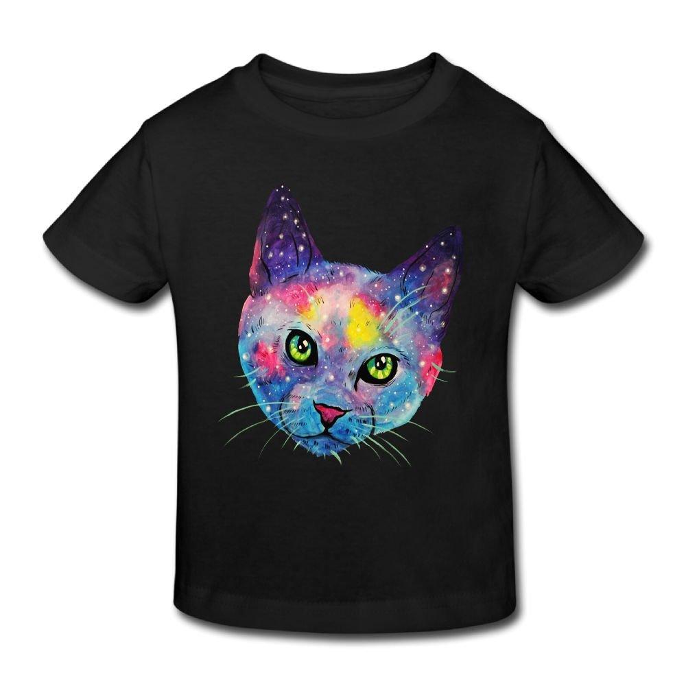 KissKid Galaxycat Kids Short Sleeve Tshirt