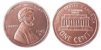 Madelaine Chocolate Highly Detailed, Solid Milk Chocolate Copper Penny Coins, Wrapped In Italian Foil