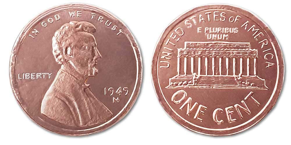 Madelaine Chocolate Highly Detailed, Solid Milk Chocolate Copper Penny Coins, Wrapped In Italian Foil - 1 LB
