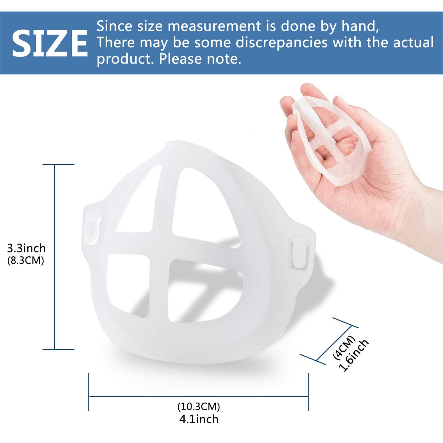 Rahmen f/ür Nase und Atmung erweitern Sie den Atemraum eiuEQIU 3D Holder Mundschutz interner Halter kleben Sie keinen Lippenstift auf Lipstick Protection Stand