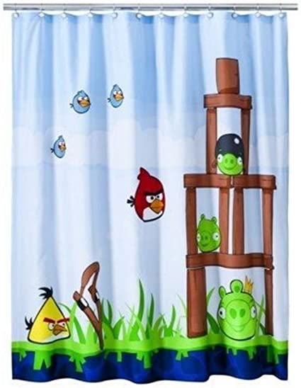 Image Unavailable Not Available For Color Angry Birds Shower Curtain