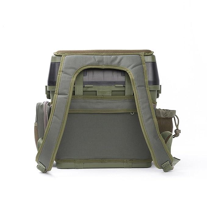JK Leisure - Maletín de pesca con múltiples compartimentos y asiento, 38 x 23 x 37 cm: Amazon.es: Deportes y aire libre