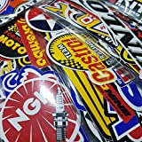 100 Pcs of Sponsor Stickers for Car Racing Vintage Decal and Rare Original Motocross Motorcycle Sticker