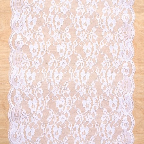 Lace Runner, 14 inches wide x 10 yds, Chantilly Ribbon, (Chantilly Lace Runner)