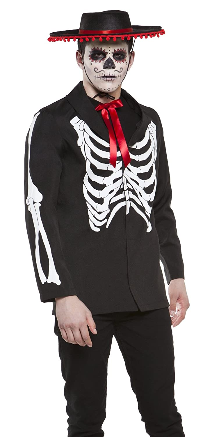 amazoncom lip service day of the dead goth punk skeleton mens halloween costume small clothing - Amazon Halloween Costumes Men