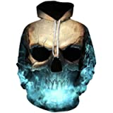 Unisex Plus Size Hoodie,Balakie 3D Magic Skull Print Pocket Sweatshirt Party Top