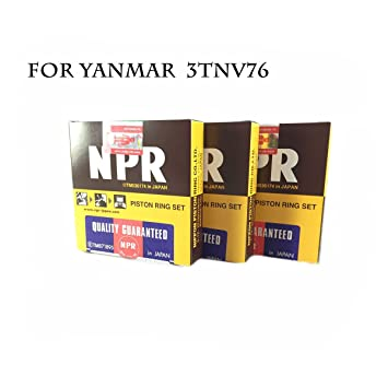 NPR Piston Ring (Made In Japan) STD 76mm for YANMAR 3TNV76 (3