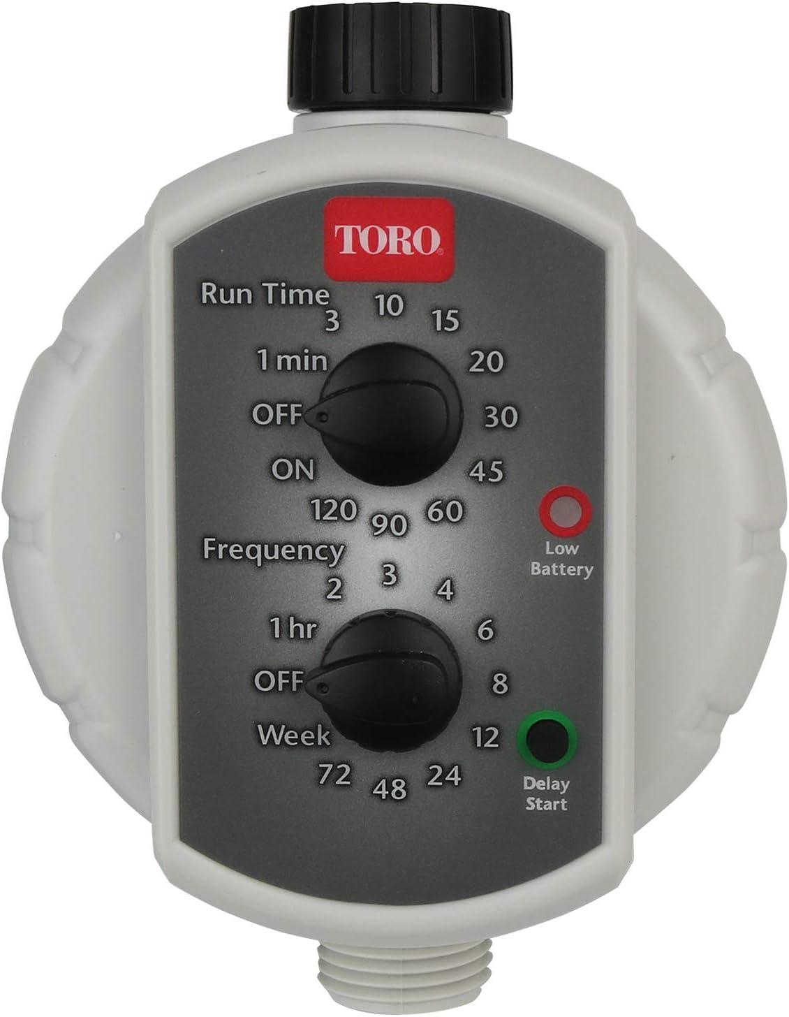 Toro 53453 Low-Pressure Tap Timer, Light Grey