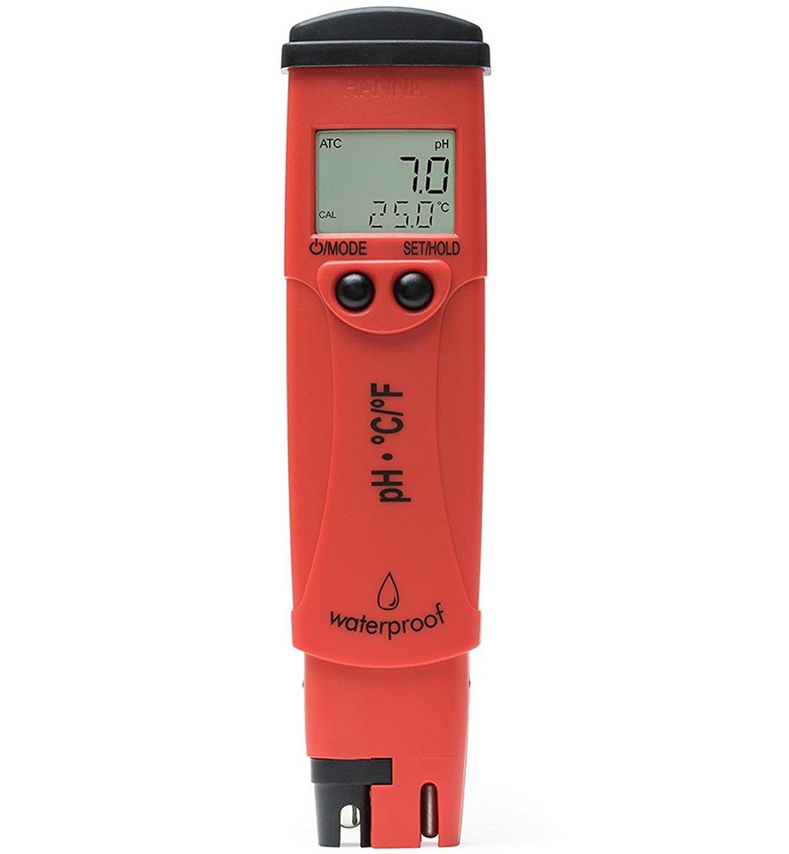 Hanna Instruments Grochek LCD pHep 4 Waterproof PH Temperature Meter | HI98127 by Hanna Instruments