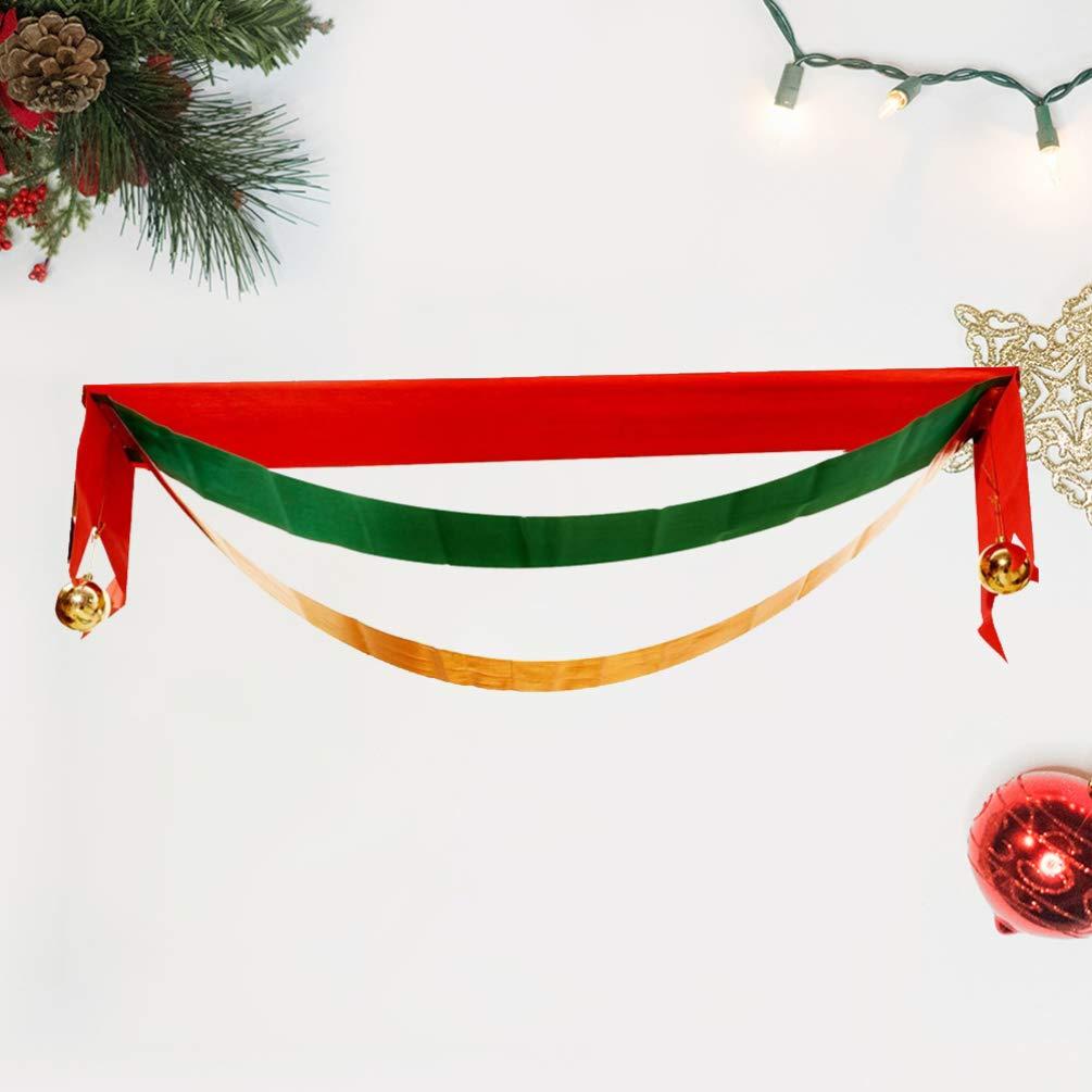 Amosfun banni/ère no/ël drapeau vague d/écorations de no/ël d/écorations suspendues drapeaux banni/ère anniversaire no/ël d/écorations de no/ël