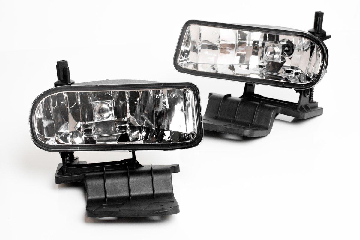 AVEC AV-Sil99 Products Chevy Tahoe OEM Fog Lights, Clear Lens, Pair