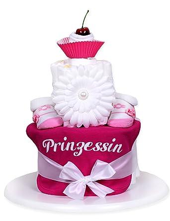 Trend Mama Windeltorte Muffin Pink Mädchen Lätzchen Babysocken
