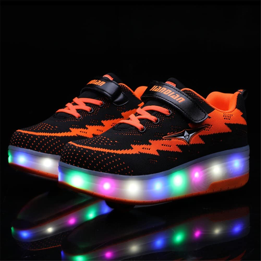 Skybird-UK LED Lumi/ères Clignotant Couleur Changeant Chaussures /à roulettes Multisports Outdoor 7 Couleurs LED Color/és Gymnastique Sneakers avec Rouleau de Gar/çon et Fille