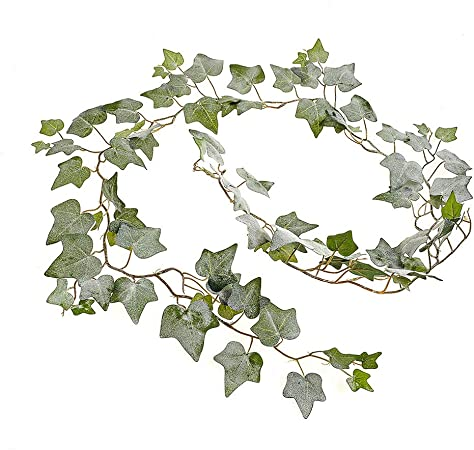 JUSTOYOU Ivy Leaves Garland Artificial Plants,6.2ft English Ivy Wedding Garland