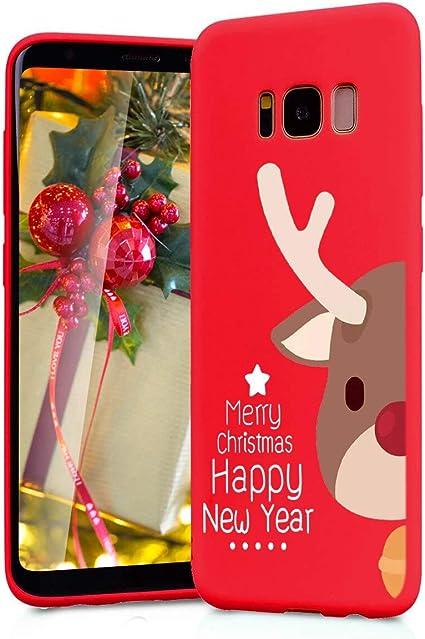 Yoedge Funda para Samsung Galaxy S8 Plus, Cárcasa Silicona Rojo Navidad con Dibujos Nieve Ciervo de Diseño Antigolpes Case Bumper Fundas para Samsung Galaxy S8 Plus Smartphone. (Ciervo 3): Amazon.es: Electrónica