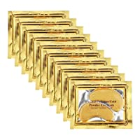 Permotary 30 Pairs Crystal Collagen Under Eye Mask, Gold Gel Collagen Eye Pad For...