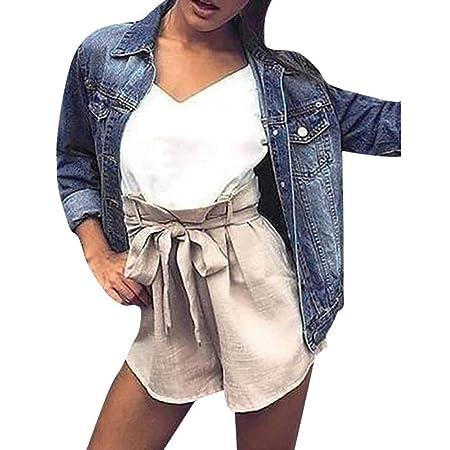 FuweiEncore Chaqueta de Mezclilla para Mujer descolorida Abrigo Desgastado Desgastado y Desgastado de Fitt (Color : Azul Oscuro, tamaño : Large): Amazon.es: ...