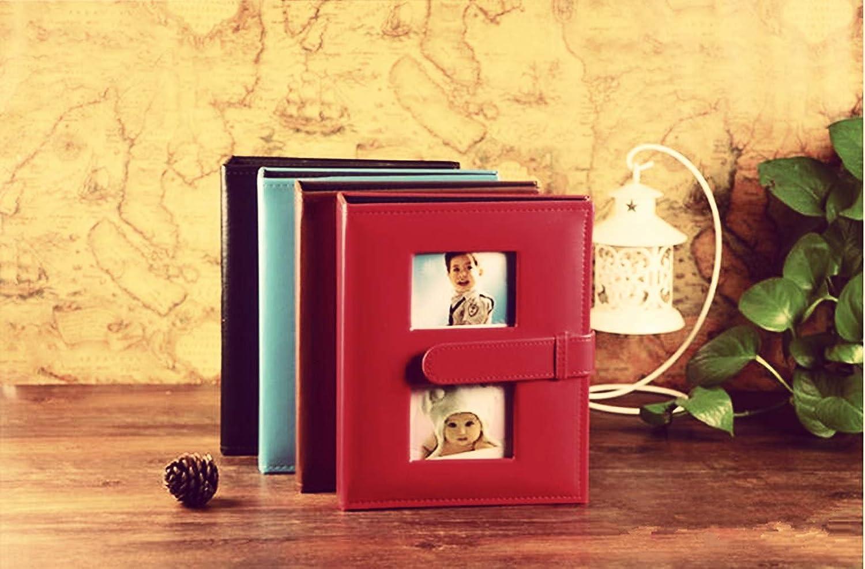 XIHOME Prime-Fen/être avec Boucle Anniversaire de Mariage en Famille Album de Photos de Vacances pour b/éb/é 200 Poches Horizontal 4x6 Photos 2 par Page-Cuir PU Deluxe de capacit/é Moyenne Noir