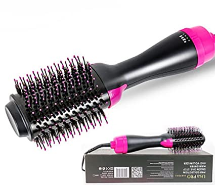 1234 secador de pelo, peine de pelo, multifunción infrarrojos anión caliente peine de aire