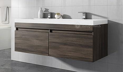 Mobile da bagno Avellino bacino 144 cm rovere grigio - Mobiletto ...