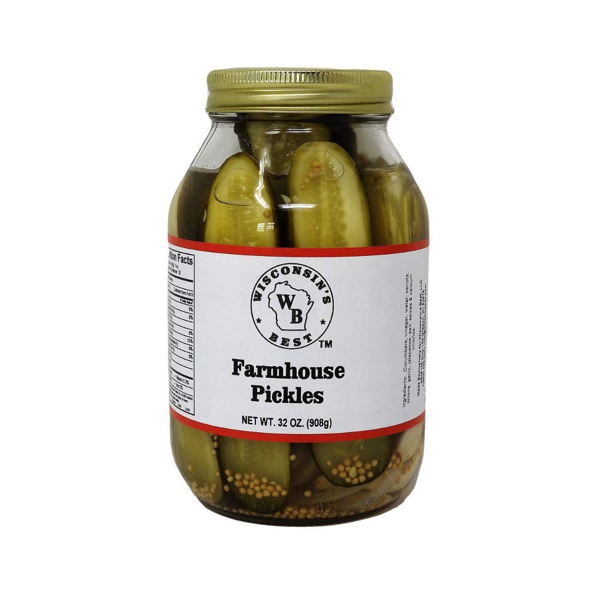 Wisconsin's Best Farmhouse Pickles 64oz. (2 Pack). Pickle Spears, Bulk Food Item, Amazon Grocery Best Pickles.